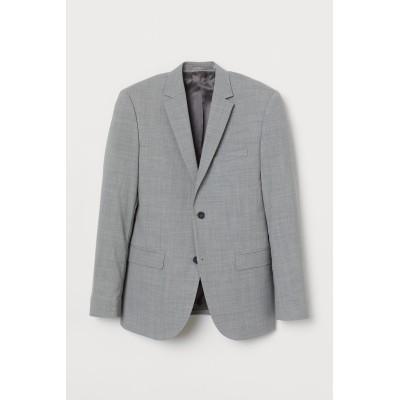 H&M - スリムフィット ウールジャケット - グレー