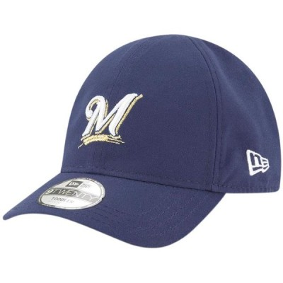 ベビー スポーツリーグ メジャーリーグ Milwaukee Brewers New Era Infant My 1st 9TWENTY Adjustable Hat - Navy - OSFA 帽子