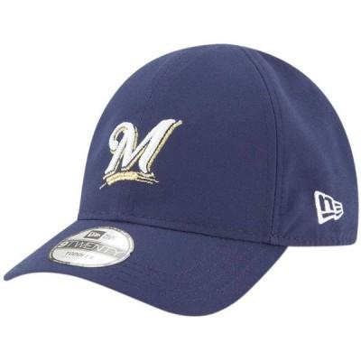 ベビー スポーツリーグ メジャーリーグ Milwaukee Brewers New Era Infant My 1st 9TWENTY Adjustable Hat - Navy - OSFA 帽子