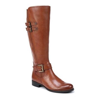 ナチュライザー レディース ブーツ&レインブーツ シューズ Jessie Tall Leather and Buckle Block Heel Riding Boots Banana Bread
