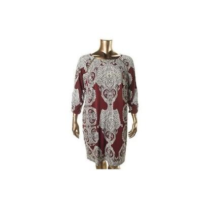 ドレス ワンピース INC INC 7516 レディース Matte Jersey Paisley ジッパー Wear to Work ドレス Plus BHFO