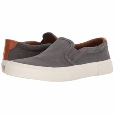 フライ スリッポン・フラット Ludlow Slip-On Grey Canvas