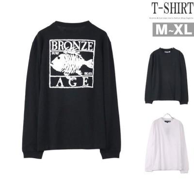 トレーナー メンズ BRONZE AGE フィッシュプリント 長袖Tシャツ ロンT 魚 おしゃれ Q02012411