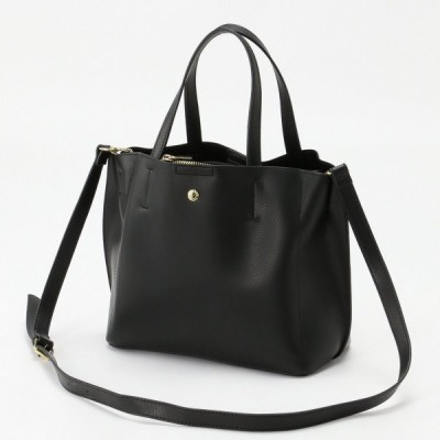 バッグ カバン 鞄 レディース 軽量ボンディングPU2WAYトートバッグ カラー 「ブラック」