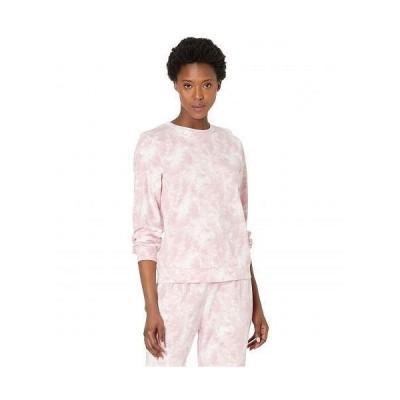 Bobeau レディース 女性用 ファッション パーカー スウェット Dropped Shoulder Sweatshirt - Light Pink Tie-Dye