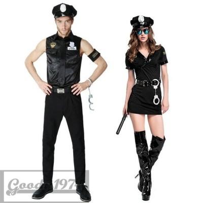 ハロウィン コスプレ 仮装 衣装 セクシー ポリス 婦人警官 レディース 制服 衣装 男性用 女性用 警察 警官 ポリス 犯人