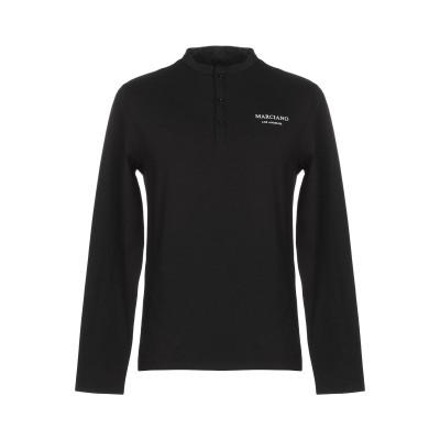 MARCIANO T シャツ ブラック M コットン 95% / ポリウレタン 5% T シャツ