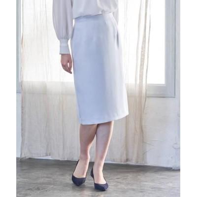 ANAYI/アナイ トリアセテートサテンタイトスカート サックス3 38