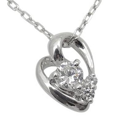K10・ダイヤモンド・ネックレス・一粒・ハート・ネックレス
