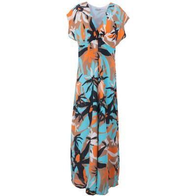 JUPE DE SATIN ロングワンピース&ドレス ブラウン 46 アセテート 60% / キュプラ 40% ロングワンピース&ドレス