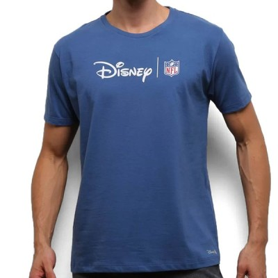 NFL Tシャツ ディズニー メンズ 半袖 tシャツ ネイビー Disney Logo T-Shirt