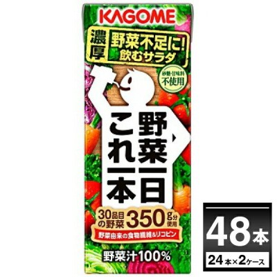 カゴメ 野菜一日これ一本 200ml×48本(2ケース)【送料無料※一部地域は除く】
