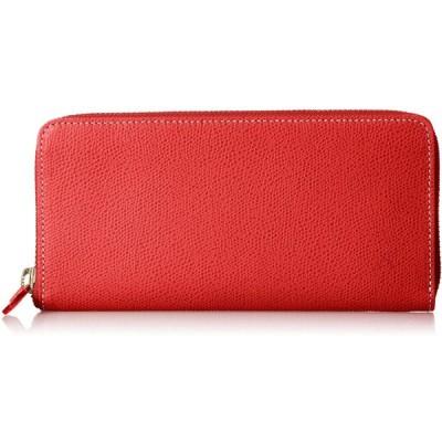キタムラ 長財布 キズが目立ちにくい素材 PH0570 レッド/アイボリーステッチ 赤 70912