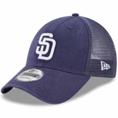New Era ニュー エラ スポーツ用品  New Era San Diego Padres Navy Trucker 9FORTY Adjustable Snapback Hat