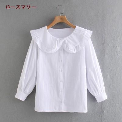 ローズマリー 欧米風 2021 4月 春 夏 🌸 新品販売  ブラウス 長袖Tシャツ  無地   可愛い  綺麗です    ベーシック  大人気  レジャー  2104414