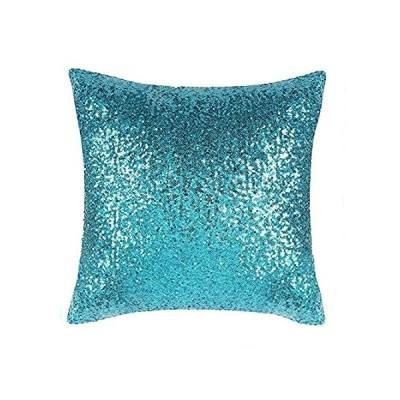 PONY DANCE Party Pillow Cases - Glitter Sequins Home Decor for Xmas Throw P