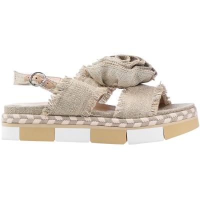 JEANNOT サンダル カーキ 36 紡績繊維 サンダル
