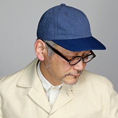 ノックス 涼しい 帽子 春夏 キャップ メンズ 日本製 KNOX サッカー生地 野球帽 紳士 ベースボールキャップ レディース 青 紺 ブルー