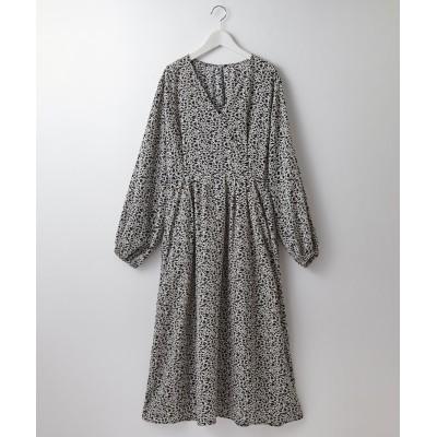 ヴィンテージサテン花柄プリントワンピース (ワンピース)Dress