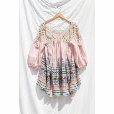 アーバンアウトフィッターズ Urban Outfitters レディース ワンピース ワンピース・ドレス uo little lies crochet dress Red Multi