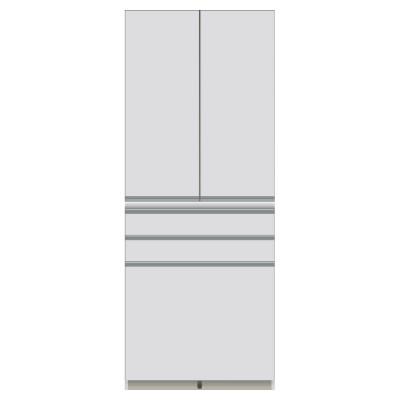 家電が使いやすいハイカウンター奥行45cm 食器棚高さ203cm幅80cm/パモウナDQ-S800K