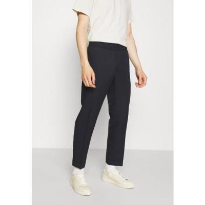 メンズ ファッション TERRY CROPPED SLACKS - Trousers - dark navy