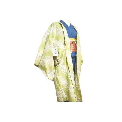 洗える羽織 長羽織袷 ロング丈袷 ポリエステル 合繊 高級感あふれる羽織 ちりめん地 フリーサイズ  No.152