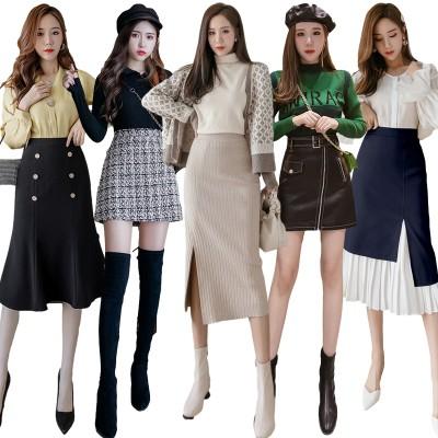 高品質 スカート 秋服韓国ファッション  限定発売 上品&ロングスカート ♪ ミディアムスカート♪ミニスカート