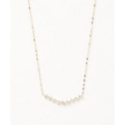 con affetto / K18ダイヤカーブラインネックレス WOMEN アクセサリー > ネックレス