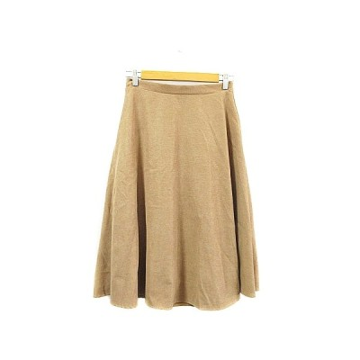【中古】メルロー merlot スカート フレア ミモレ ロング ベージュ /AAM1 レディース 【ベクトル 古着】