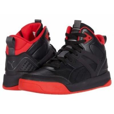 PUMA プーマ メンズ 男性用 シューズ 靴 スニーカー 運動靴 Backcourt Mid Puma Black/Puma Black/High Risk Red/Dark【送料無料】