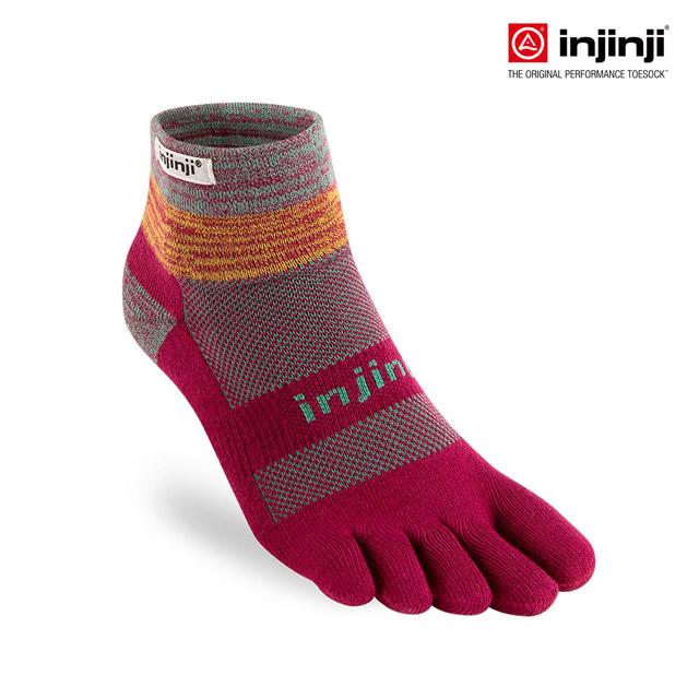 【Injinji】TRAIL野跑避震吸排五趾短襪 [紅寶石]五指襪 五趾襪 INJB0NAA3606