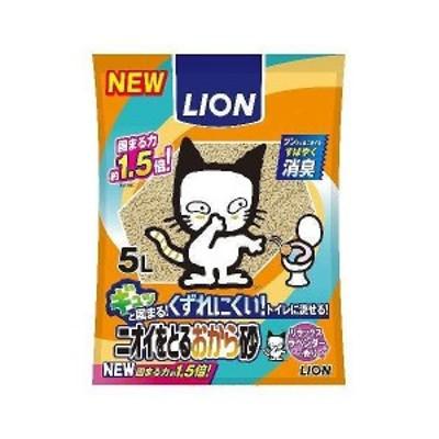 ライオン商事 新ニオイをとるおから砂 5L