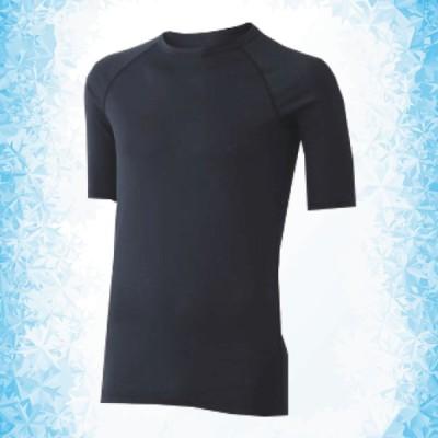 ミドリ安全 男女共用 半袖Tシャツ クールインナー FTC01BK 上 ブラック ひんやり