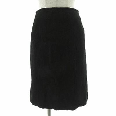 【中古】ラピスルーチェパービームス LAPIS LUCE PER BEAMS スカート ひざ丈 ウール ブラック 黒 38 レディース