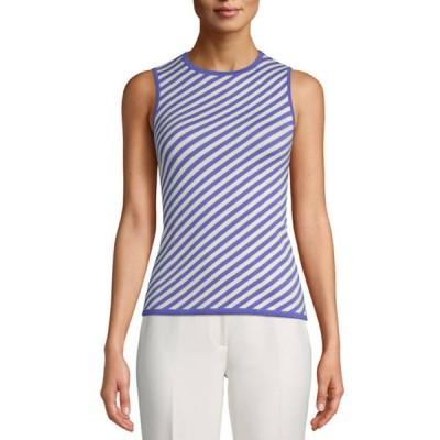 アンクライン レディース ニット・セーター アウター Women's Sleeveless Stripe Tank Top