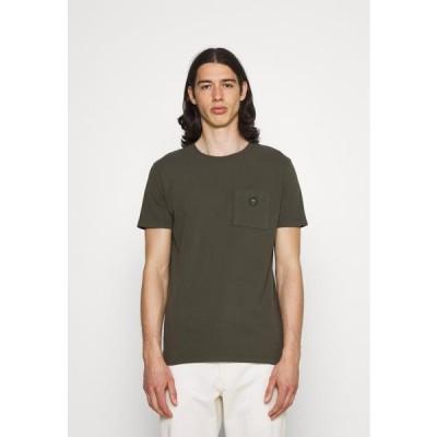 メンズ ファッション ALDER GARMENT TEE POCKET AND BADGE - Basic T-shirt - forrest night