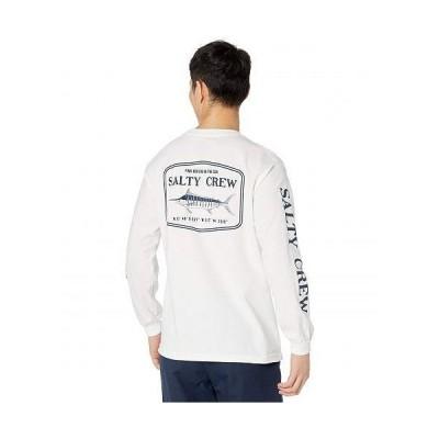 Salty Crew メンズ 男性用 ファッション Tシャツ Stealth Long Sleeve Tee - White