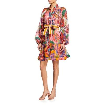ジマーマン レディース ワンピース トップス The Lovestruck Mini Floral Paisley Dress