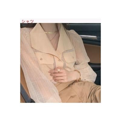 【送料無料】厚手のシャツ 女 気質 透かし 薄い シャツ フレンチ タイプ ビンテージトッ | 346770_A62909-1130724