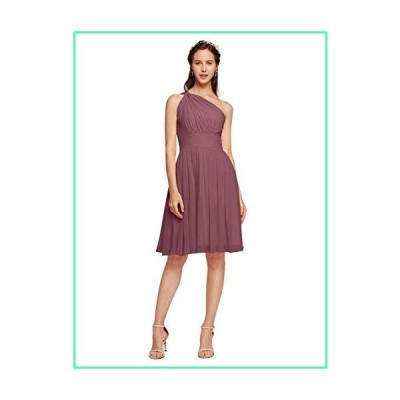 Alicepub One Shoulder Chiffon Bridesmaid Dress Short Homecoming Dresses Special Occasion Formal Gown for Women, Dusty Rose, US6並行輸入品