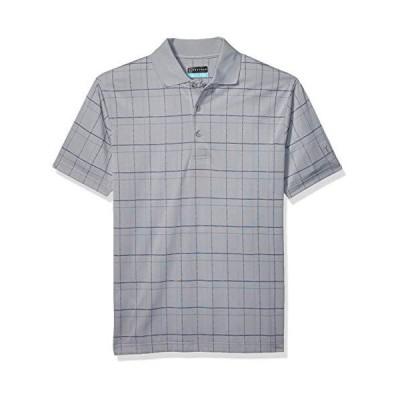 PGA TOUR メンズ 半袖ジャカードポロシャツ US サイズ: Small カラー: グレイ