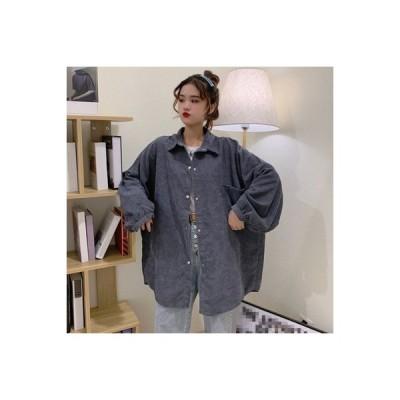 【送料無料】女性のシャツ 秋冬 ルース 何でも似合う コーデュロイ カーディガン 着 | 364331_A63967-7480210