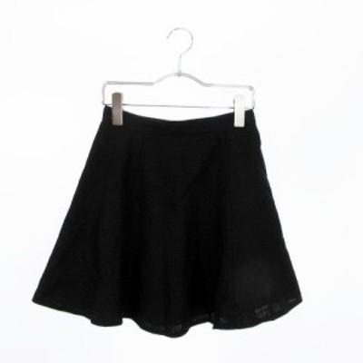 【中古】スライ SLY スカート フレア ミニ 1 黒 ブラック ☆S☆ /yt0615 レディース