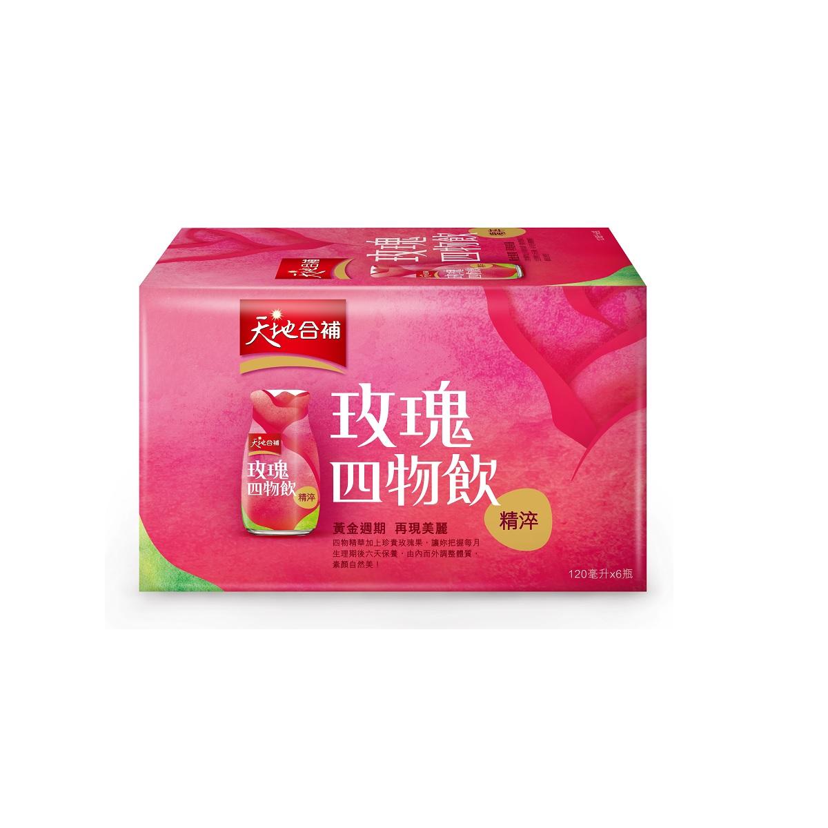 佳格天地合補精淬玫瑰四物飲盒裝6瓶