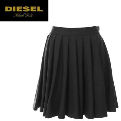 ディーゼルブラックゴールド DIESEL BLACK GOLD ミニスカート レディース ウール素材 ストレッチ プリーツ ONDULY-W