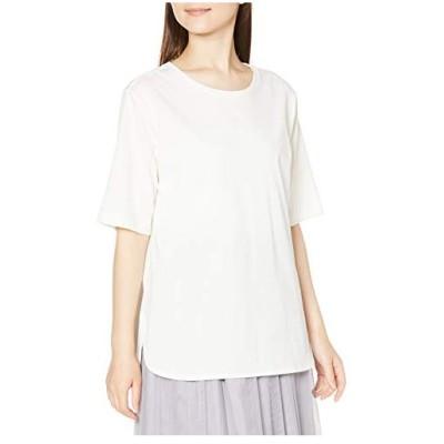ナチュラルビューティーベーシック カットソー ラウンドヘムTシャツ レディース オフ 日本 M (日本サイズM相当)