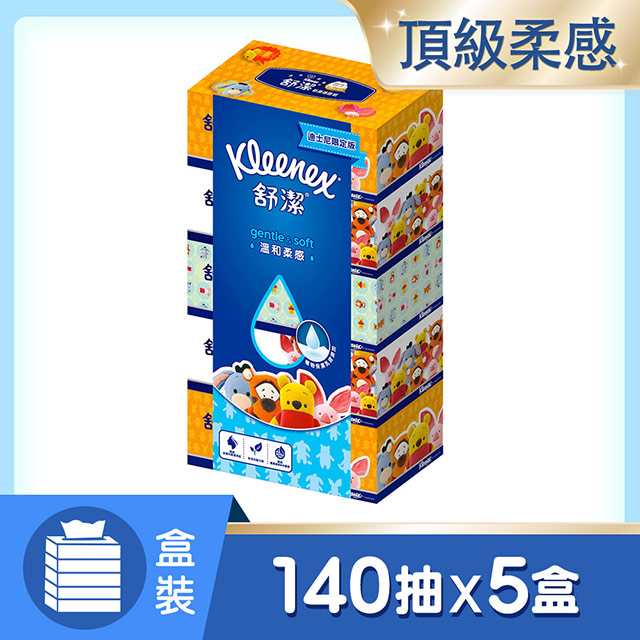 舒潔 溫和柔感盒裝面紙(140抽x5盒/串)