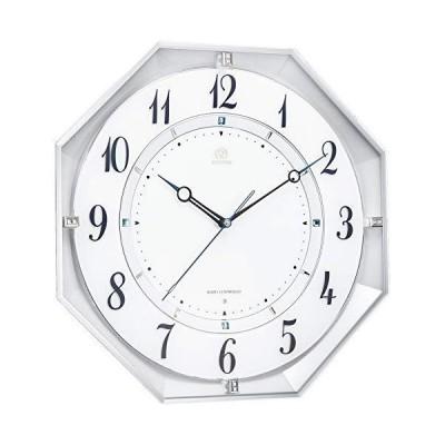 リズム(RHYTHM) 電波時計 掛け時計 ハイグレードクロック RHG-M119 連続秒針 八角形 8MY559HG03