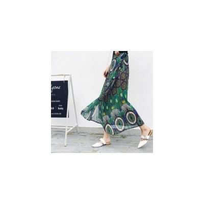 スカートロング丈マキシ丈花柄ラップスカート可愛いシフォンAラインカジュアルリゾートビーチGoodClothes